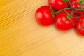 Bunch of red tomatoes on wooden table - view from top - PhotoDune Item for Sale