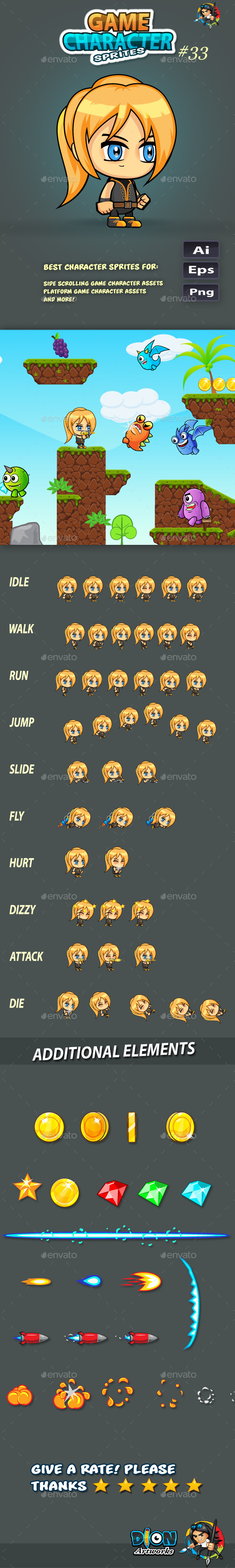 GraphicRiver 2D Game Character Sprites 33 11587713