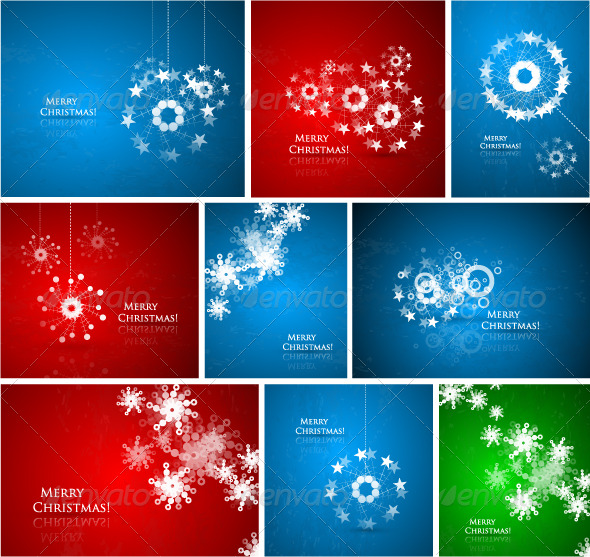 GraphicRiver Abstract Christmas composition pack 142691