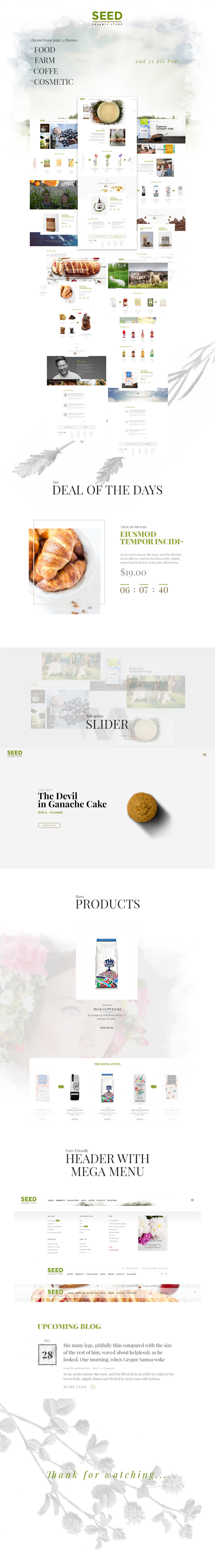 Organic theme Farm, Bakery, Naturalproducts shop, company