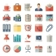 Office And Business Flat Icons For Web, Mobile