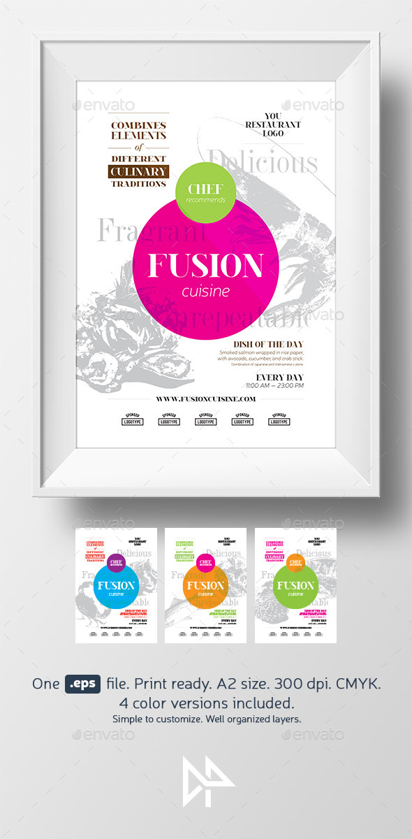 GraphicRiver Fusion food poster template 11587958