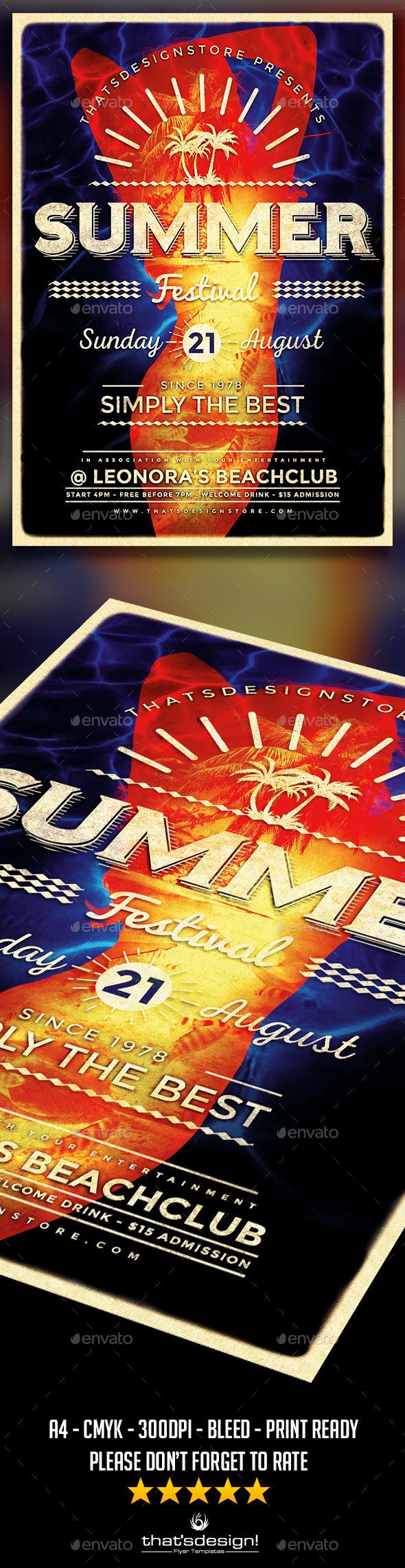 GraphicRiver Summer Fest Flyer Poster Template V3 11588066