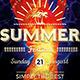 Summer Fest Flyer Poster Template V3 - GraphicRiver Item for Sale