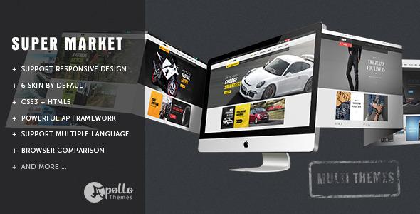 Ap SuperMarket – Shopify Responsive Theme (Shopping) Download