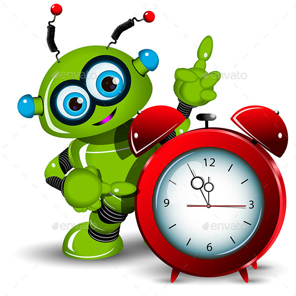 GraphicRiver Robot and Alarm Clock 11588127