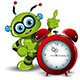 Robot and Alarm Clock - GraphicRiver Item for Sale