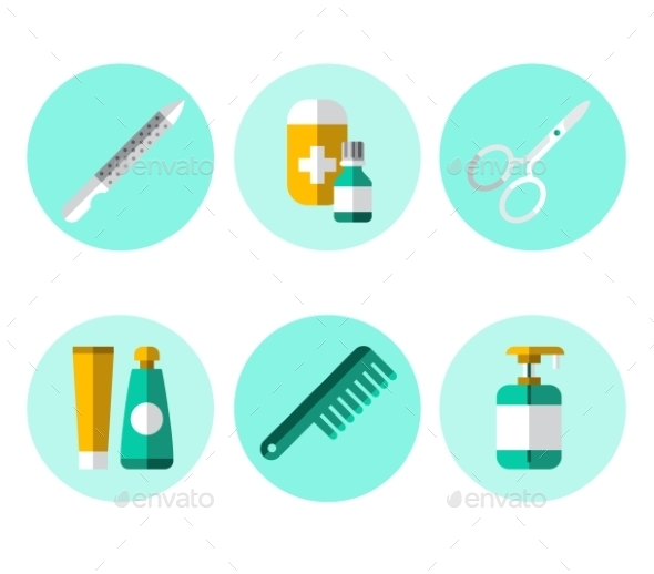 GraphicRiver Hygiene Icons Flat Set 11588136