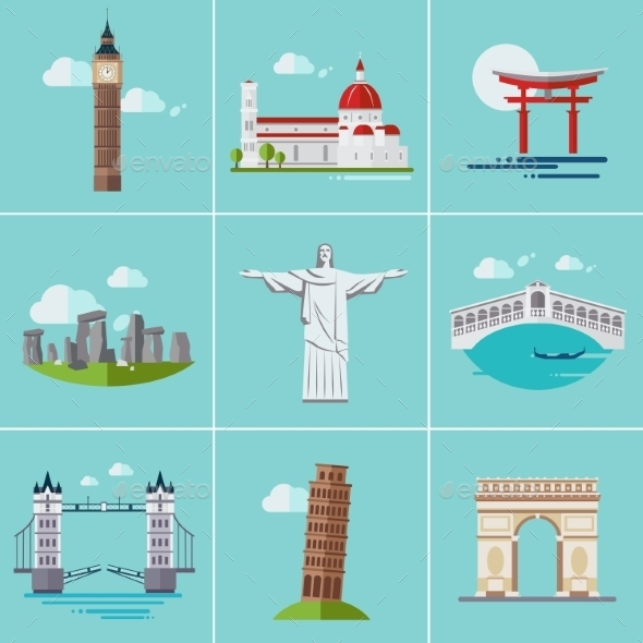 GraphicRiver Popular Sightseeing 11588142