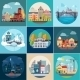 Set of Different Landscapes - GraphicRiver Item for Sale
