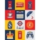 Flat Style Poster with London Symbols - GraphicRiver Item for Sale