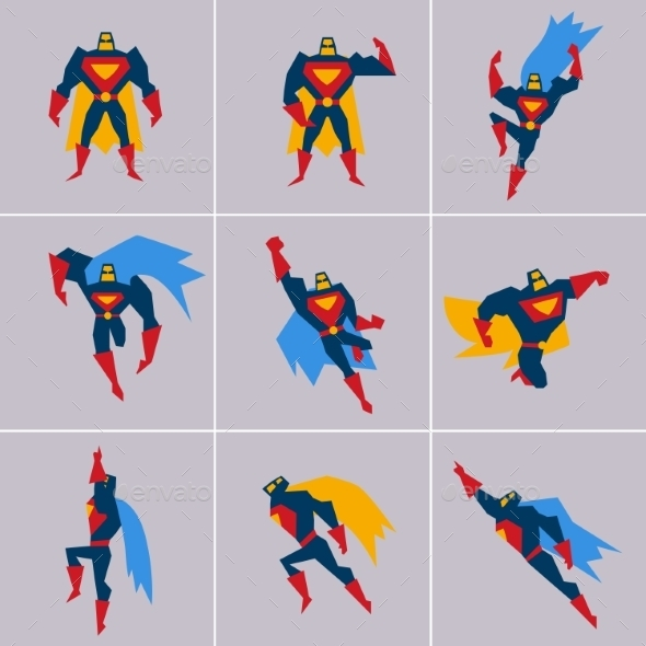 GraphicRiver Superhero in Action 11588178