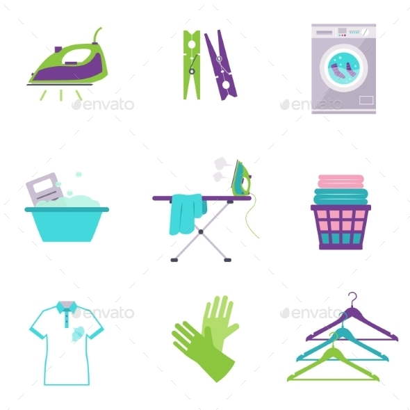 GraphicRiver Cleaning Tools Icons 11588203