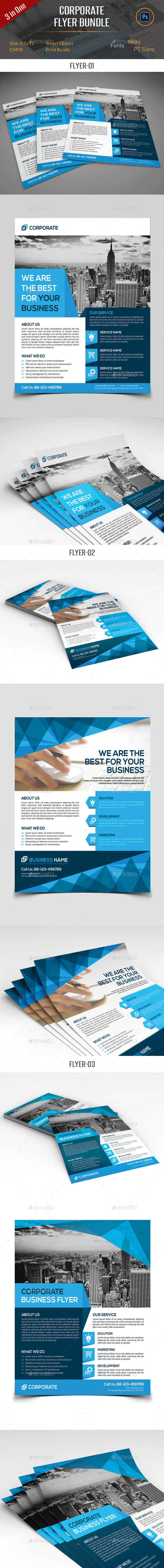 GraphicRiver Corporate Business Flyer Bundle 11588435