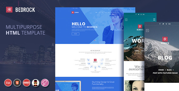 ThemeForest Bedrock Multipurpose HTML Template 11588484