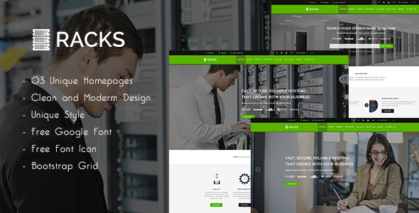 ThemeForest Racks Wordpress Hosting & WHMCS Theme 11588692