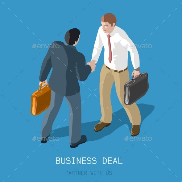 GraphicRiver Business Deal People Isometric 11588766
