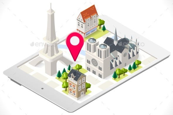 GraphicRiver Paris on a Tablet with Eiffel Tour 11588803