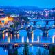 Panoramic view of Prague bridges over Vltava river - PhotoDune Item for Sale