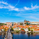 Charles bridge and Prague castle from Old town - PhotoDune Item for Sale