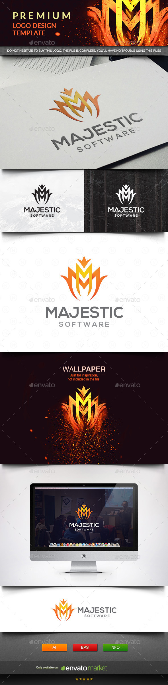 GraphicRiver Majestic Letter M 11576223