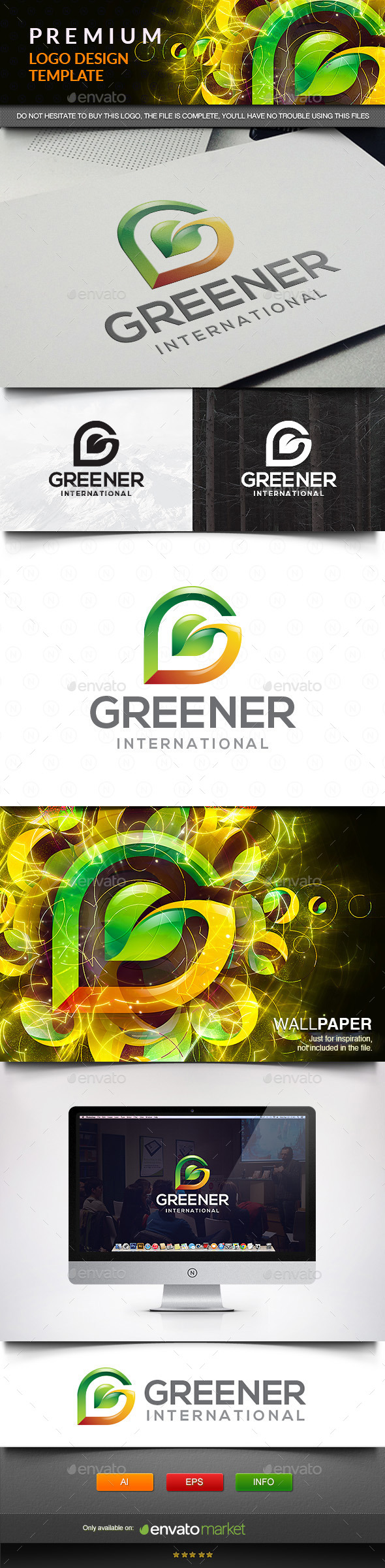 GraphicRiver Leaf Green Letter G 11571917