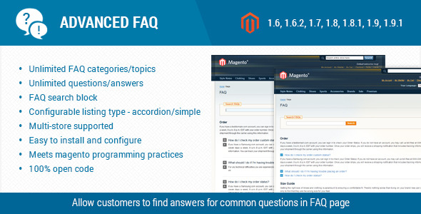 CodeCanyon Advanced FAQ Magento Extension 11589202