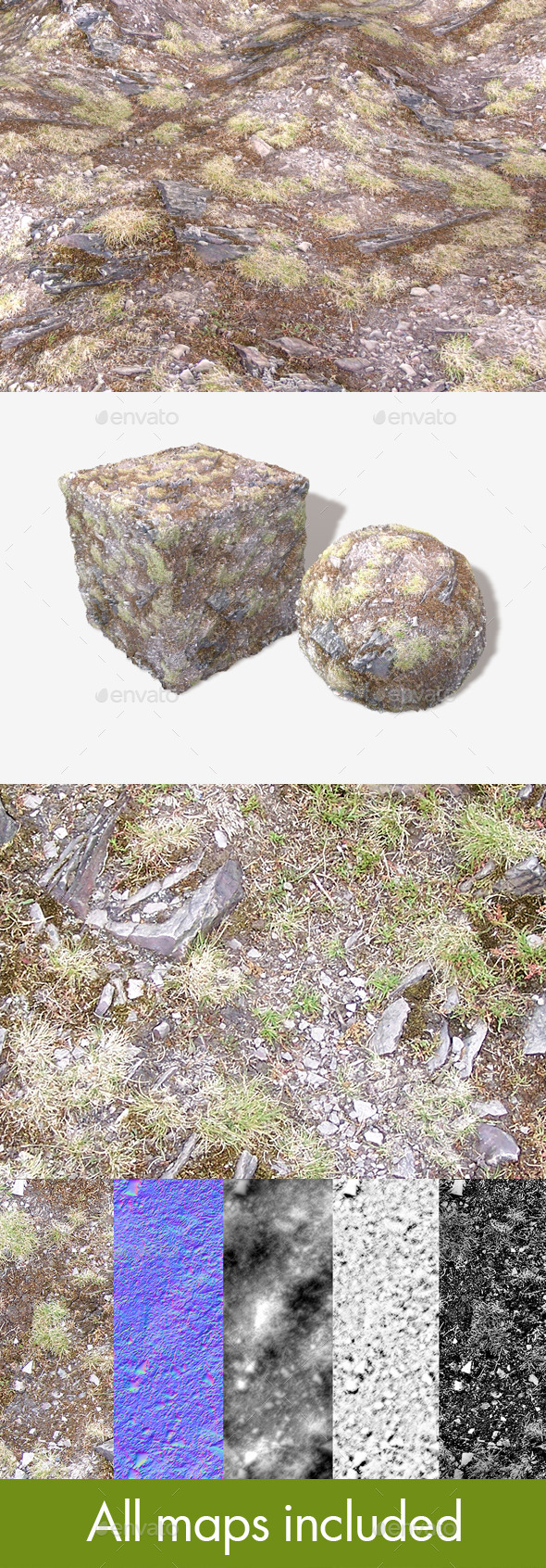 3DOcean Hill Rocks 01 Seamless Texture 11589235