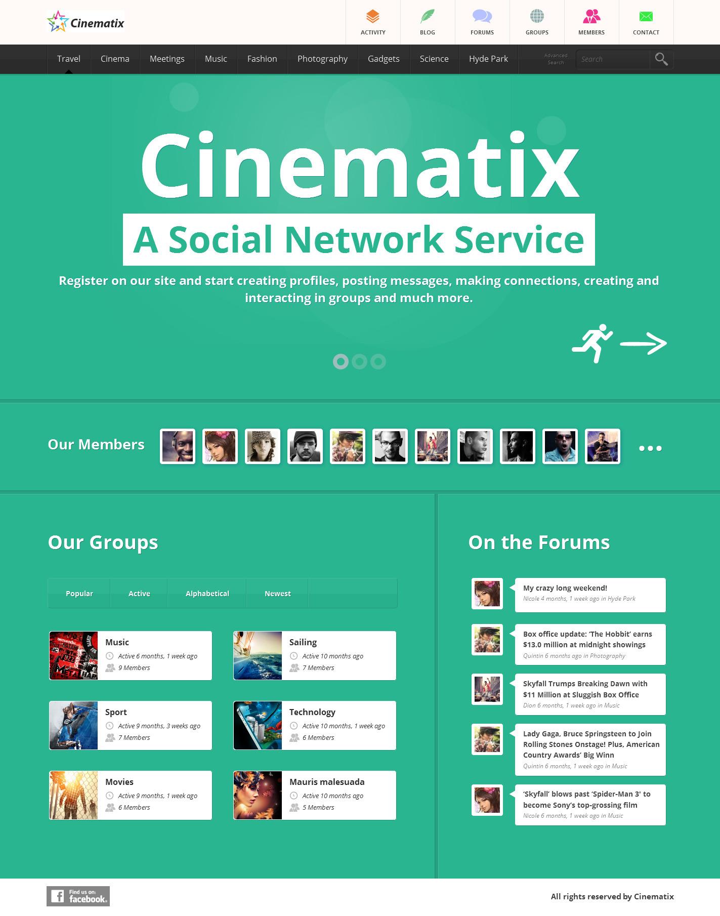 Cinematix - BuddyPress Theme