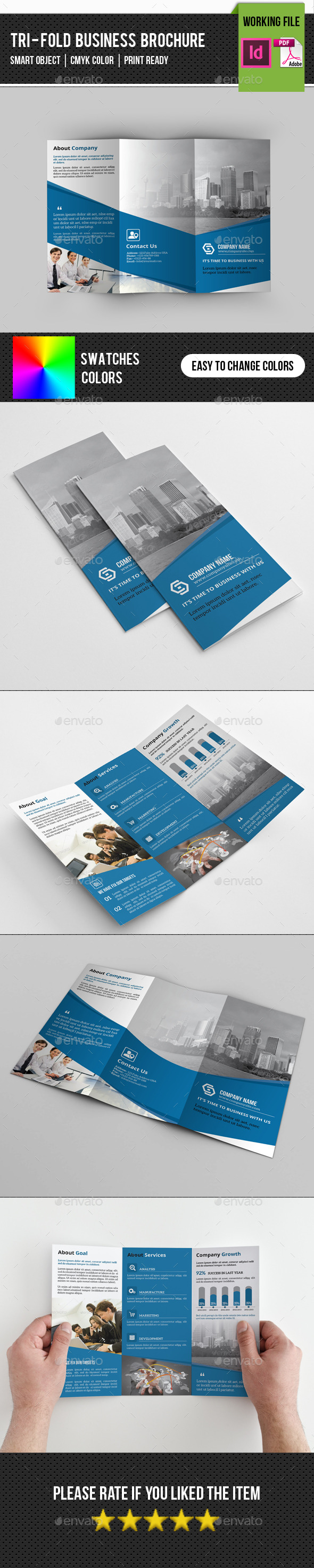 GraphicRiver Corporate Trifold Brochure-V235 11589638