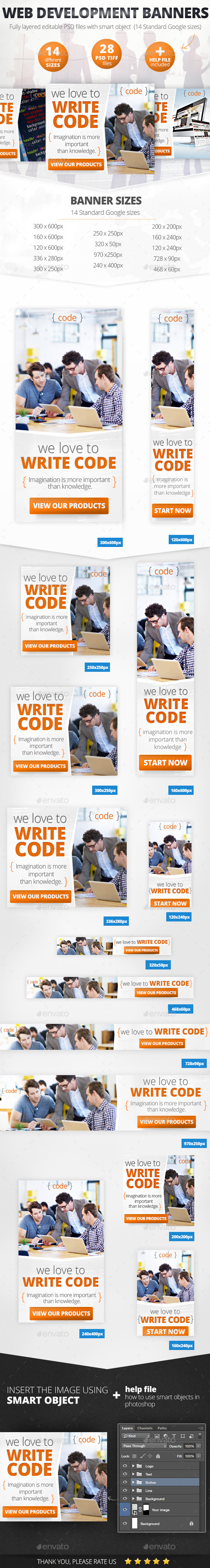 GraphicRiver Web Development Design Web Banner Set 11589673