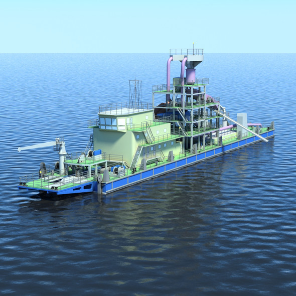 Big Dredger - 3DOcean Item for Sale