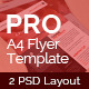 A4 Professional Flyer Template - GraphicRiver Item for Sale