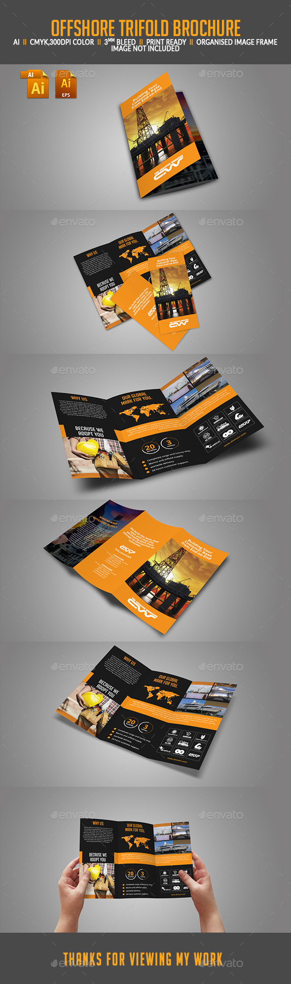 GraphicRiver Offshore Tri-fold Brochure 11590417