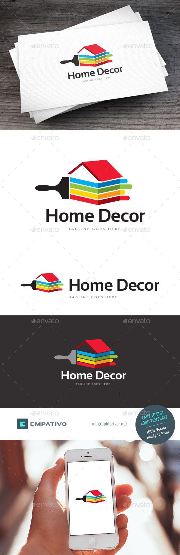 GraphicRiver Home Decor Logo Template 11590458