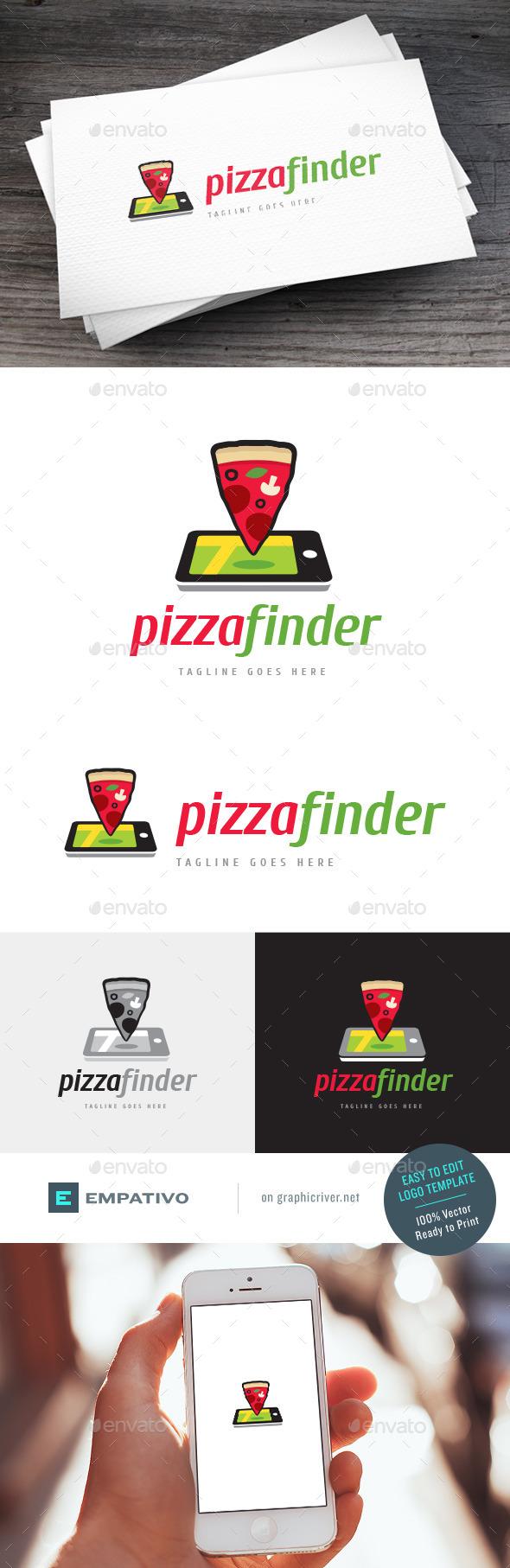 GraphicRiver Pizza Finder Logo Template 11590573