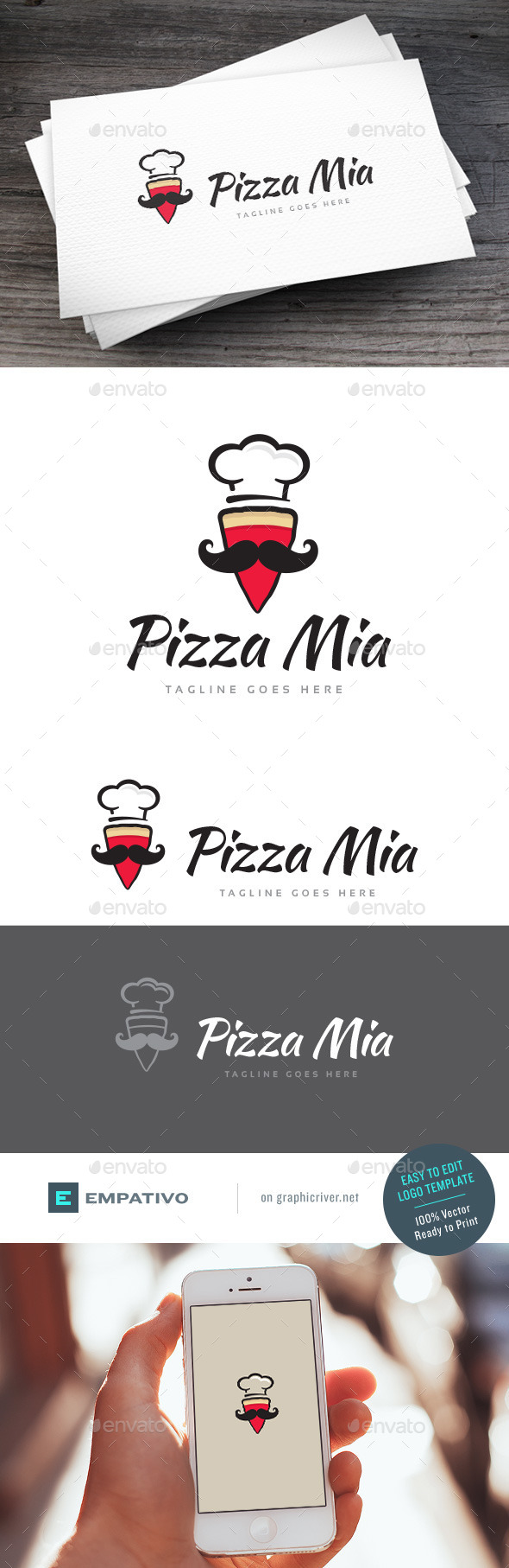 GraphicRiver Pizza Mia Logo Template 11590633