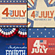 July 4th Backgrounds/ Cards 2 - GraphicRiver Item for Sale