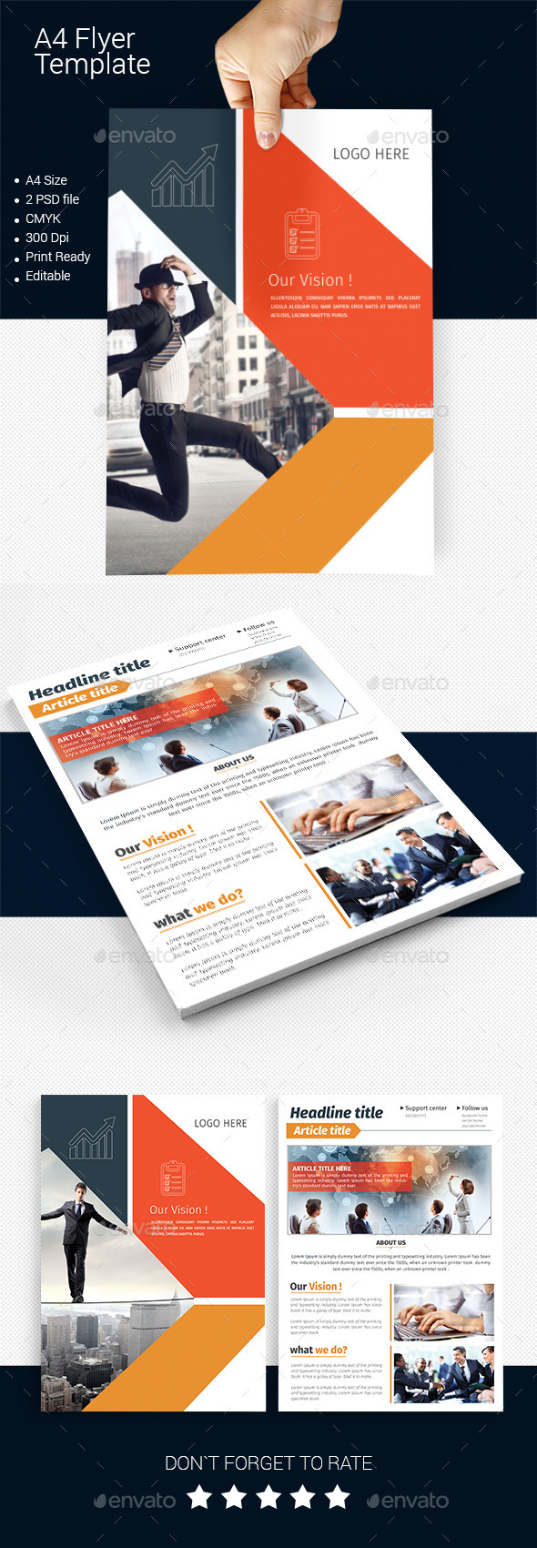 GraphicRiver A4 Business Flyer Template 09 11590934