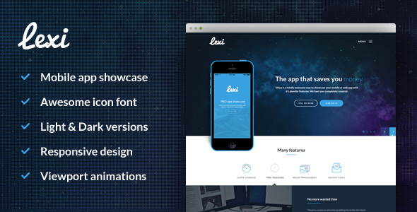 ThemeForest Lexi mobile app HTML 11305838