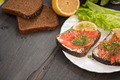 Sandwich with salmon for breakfast - PhotoDune Item for Sale