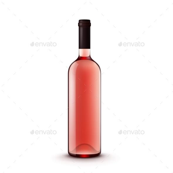 GraphicRiver Glass Wine Bottle 11591136