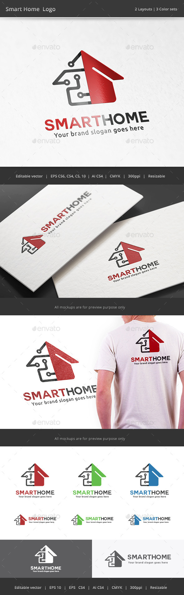 GraphicRiver Smart Tech Home Logo 11591144