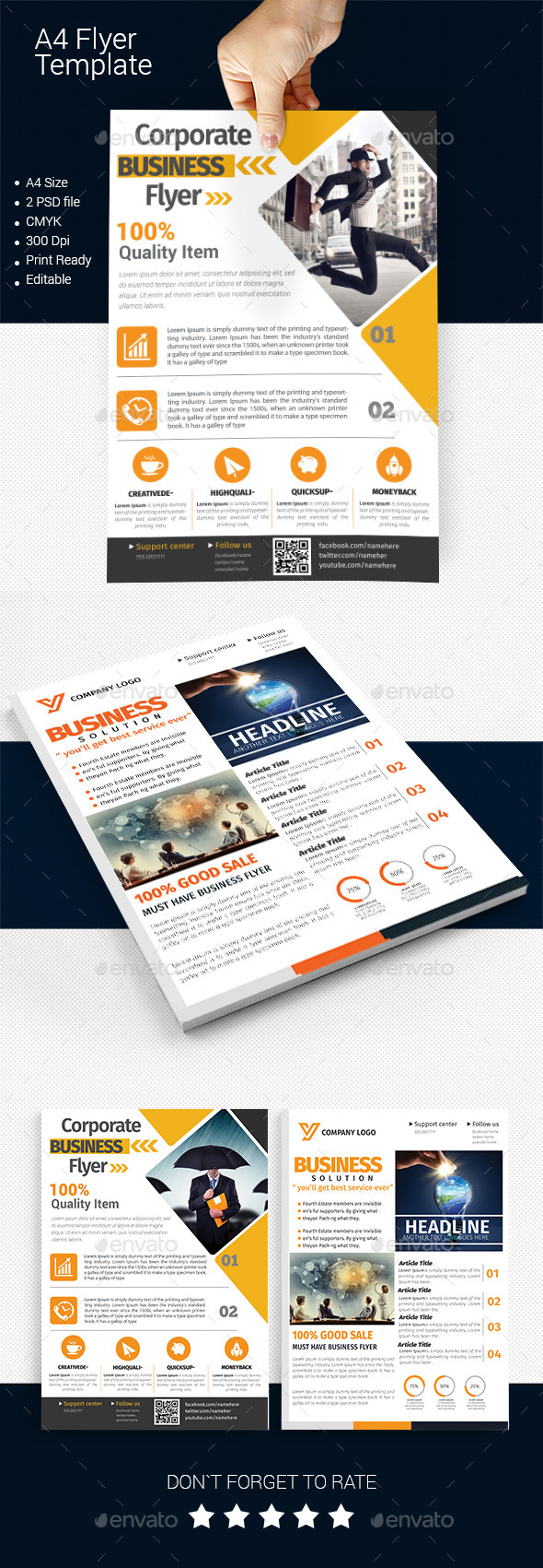 GraphicRiver A4 Business Flyer Template 01 11591233