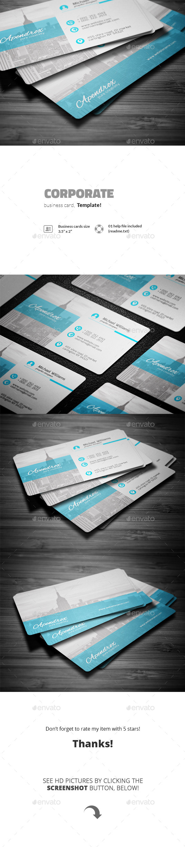 GraphicRiver Corporate Business Card 11591395