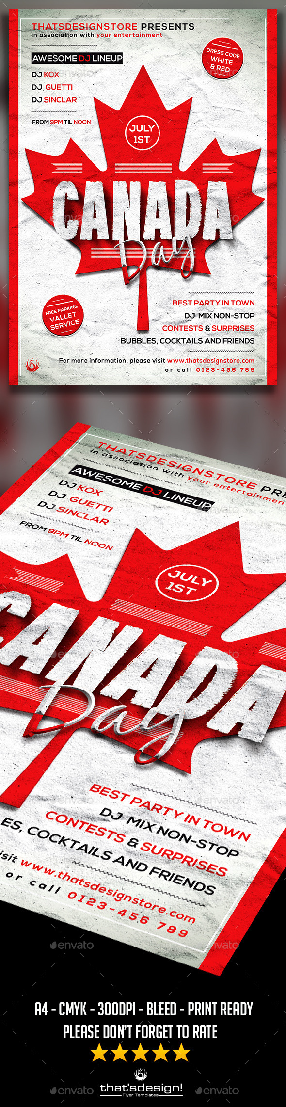 GraphicRiver Canada Day Flyer Poster Template 11591419