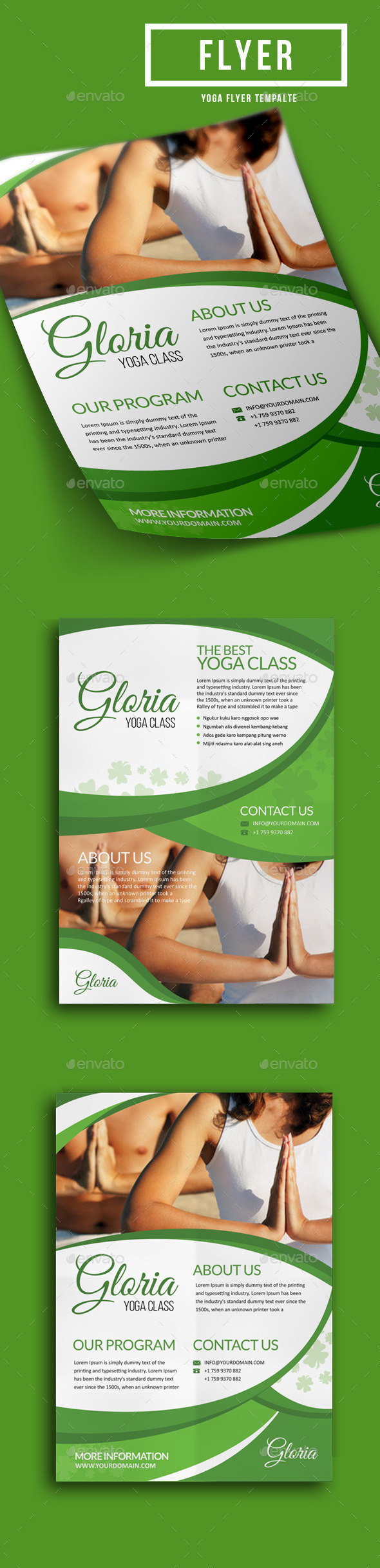 GraphicRiver Yoga Class Flyer Template 11363558