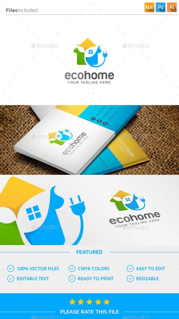 GraphicRiver Eco Home Logo 11591747
