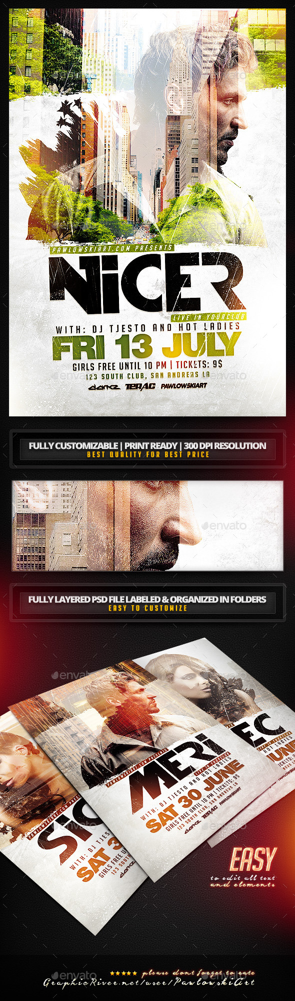 GraphicRiver Double Exposure Flyer Template 11591809