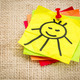 smiling sun on sticky note - PhotoDune Item for Sale